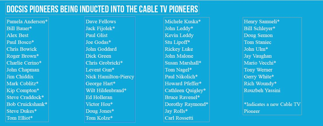 Cable TV Pioneers Inductees