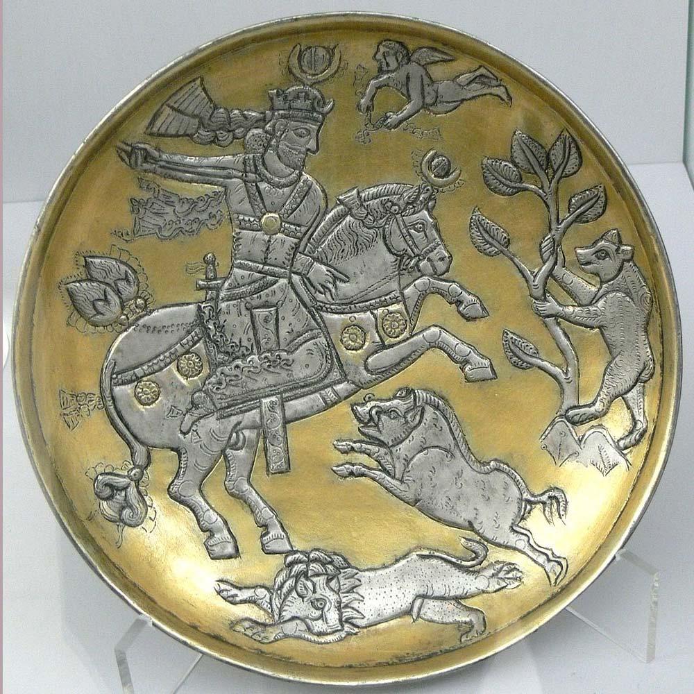 iranian art Sassanid plate
