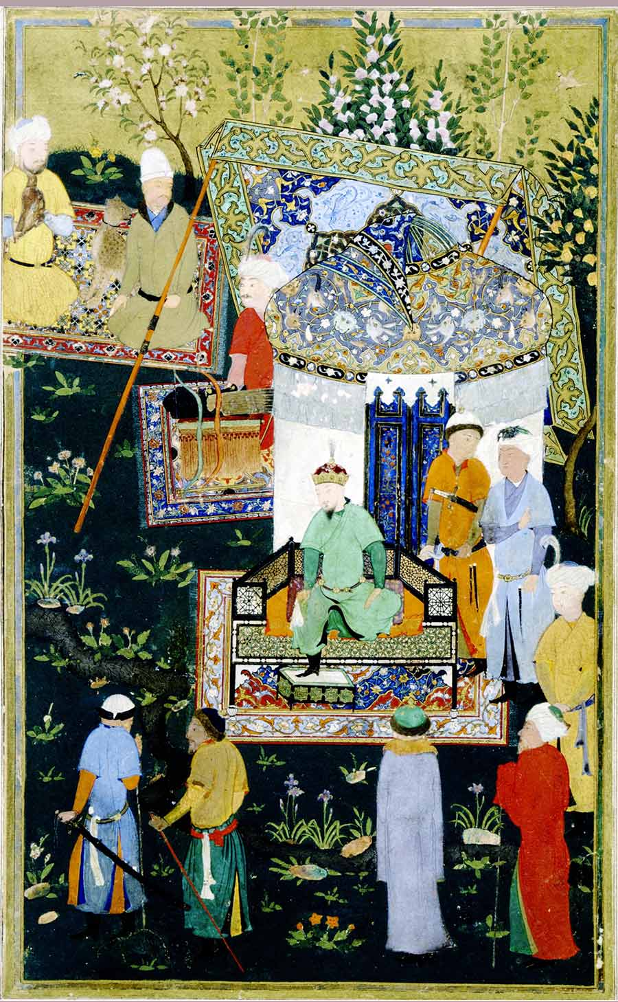 iranian art painting Timur