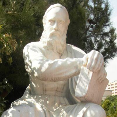 Persian poetry statue of Ferdowsi